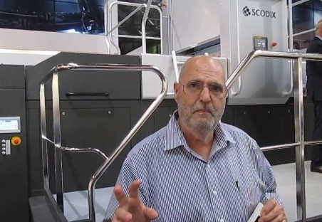 Frank Romano Introduces the Scodix E106 at Drupa 2016