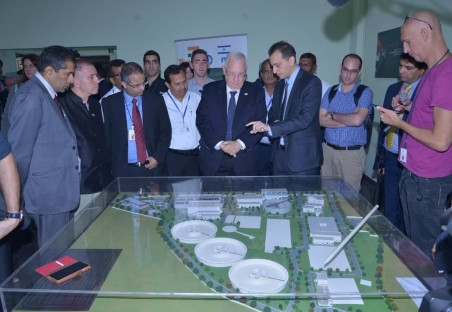 President of Israel, Mr. Ruvi Rivlin visits Aqwise Water Plant in Agra, India in November